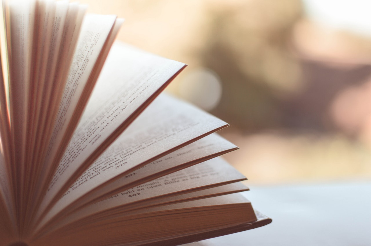Book with pages fanned