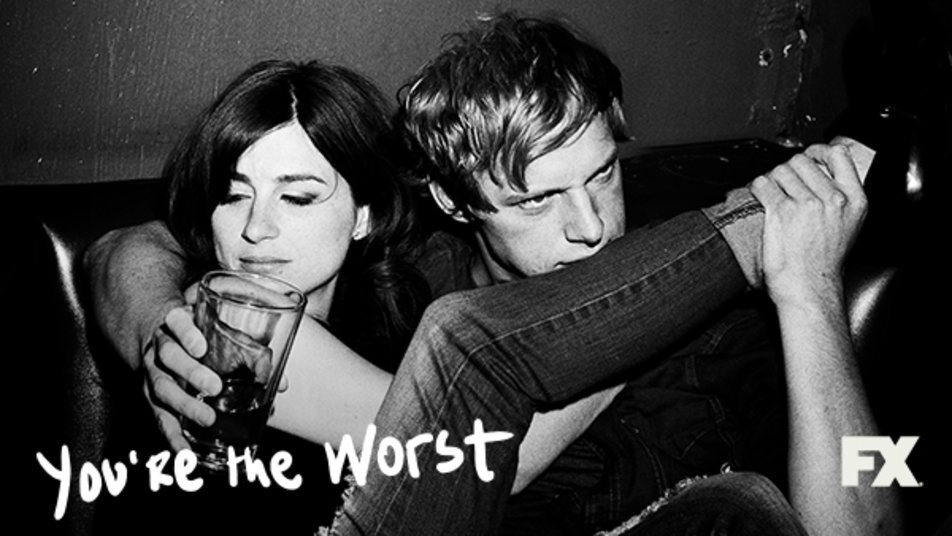 Aya Cash and Chris Geere (Gretchen and Jimmy) from You're the Worst - A TV comedy series from FX