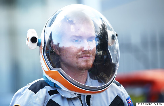 Josh Richards In astronaut suit