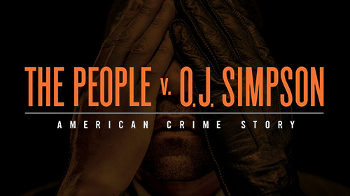 The People v. O.J. Simpson American Crime Story with OJ covering his eyes