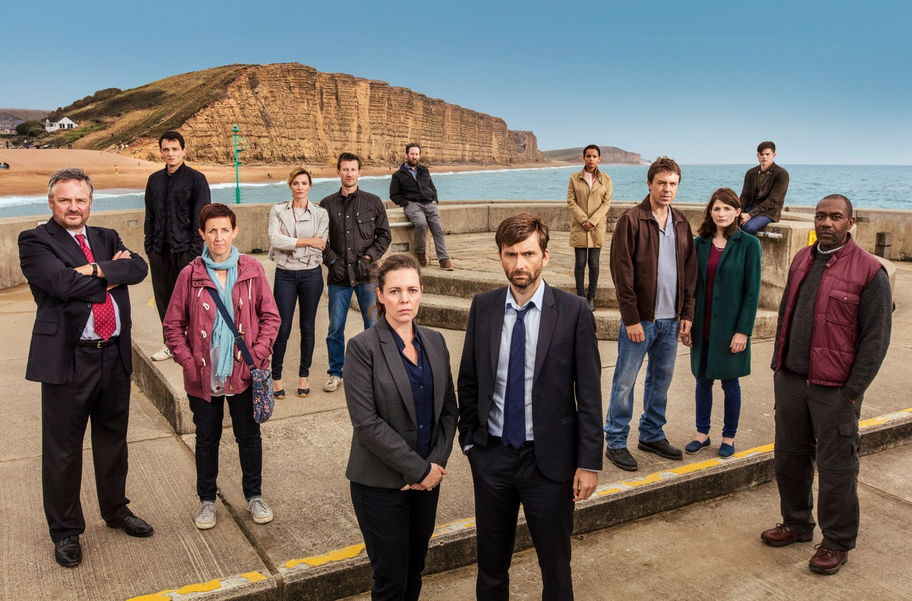 The cast from Broadchurch season 3