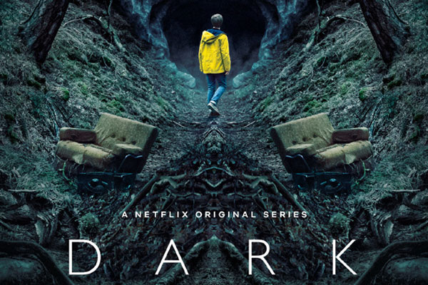 Dark - A Netflix Original Series. Boy walking into a cave.
