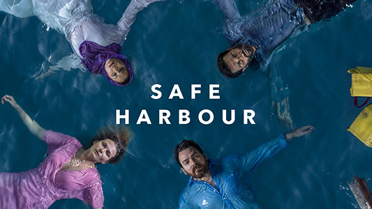 Safe Harbour. Four characters floating in a circle.