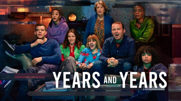 Years and Years on HBO. Image of cast sitting on lounge.